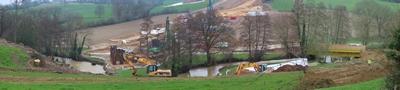 panorama des travaux de l'estacade du Vicoin